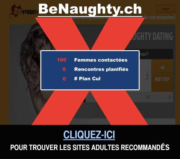 Capture du site de rencontre BeNaughty