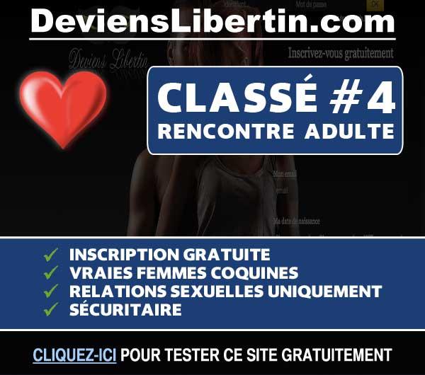 Capture du site de rencontre DeviensLibertin