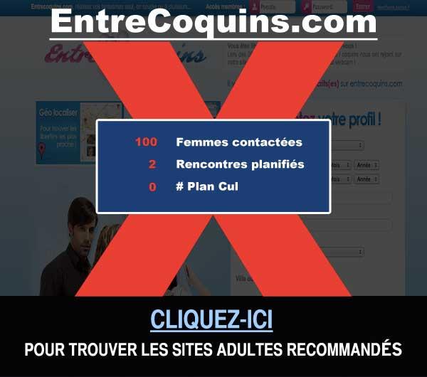 Capture du site de rencontre EntreCoquins