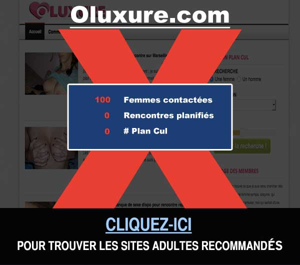Capture du site de rencontre Oluxure